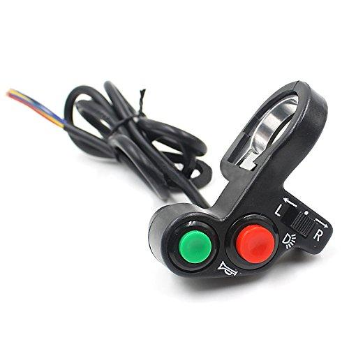 R 7//8 multi-funzione Moto Offroad Horn segnale di girata di accensione TOOGOO spegnimento della luce 12V