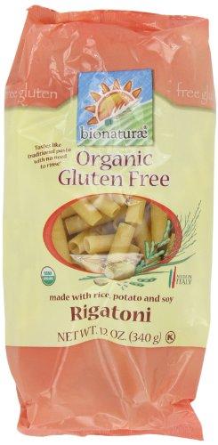Bionaturae Rigatoni Gluten Free Pasta, 12-Ounce (Pack of 4)