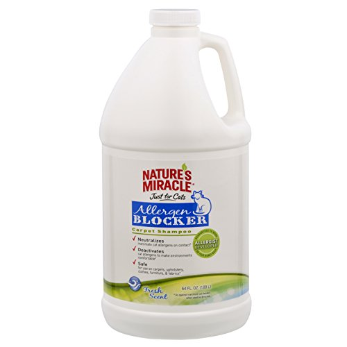 Nature's Miracle Nature's Miracle Just for Cat Allergen Blocker Carpet Shampoo 64 oz. (NM-5581)