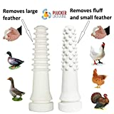 Chicken Plucker Drill Attachments - Stainless Steel Poultry Feather Remover 15 Fingers (Broiler Duck) with Best Chicken Plucker Fingers