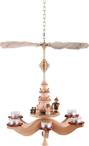 1 tier hanging german christmas pyramid winter children 42x37x37cm 165x14