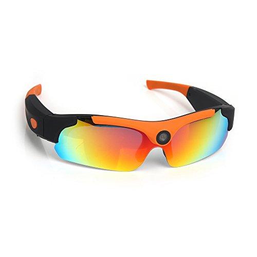 Gafas de sol para deportes al aire libre Grabación de bucle de cámara - FHD 1080P con 120 grados Gran angular - Mini...