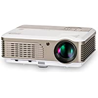 LED Projector HD 2600 Lumen Multimedia Home Theater Cinema Projectors Suport 1080p HDMI USB VGA 16:9 Widescreen LCD Image System Video Projector for iPhone Laptop iPad TV Art Drawing Outdoor Movies
