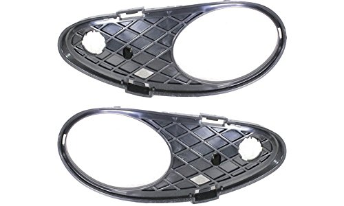 Evan-Fischer EVA24372054630 Fog Light Molding for Mercedes Benz 2003-2005 Mercedes Benz C230 Set of 2 Plastic Primed Left and Right Side Replaces Partslink# MB1039104, MB1038104