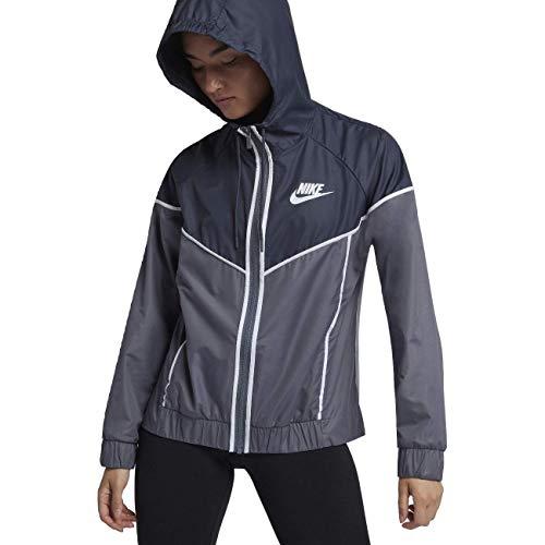 Nike Women's Sportswear Windrunner Jacket(Light Carbon/Thunder Blue, XS) by Nike (Image #2)