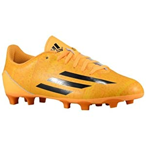 New Adidas Boy's F5 FG Messi Soccer Cleats Solar Gold/Black 10.5