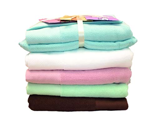 100% Organic Egyptian Cotton Bath Towel Set |Luxury Spa-Hotel Grade Face/Body/Hand Elegant Durable Quality Highly Absorbent, Premium Bath Linen | Stylish Oversized Eco-Friendly for Gift, Mint Towels