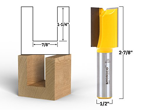 Yonico 14029 7/8-Inch Diameter X 1-1/4-Inch Height Straight Router Bit 1/2-Inch Shank by Yonico (Image #1)