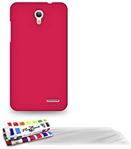 Muzzano F841022 - Funda para Alcatel Pop S3, incluye 3 protecciones de pantalla, color rosa caramelo