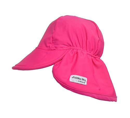 Flap Happy Girls' UPF 50+ Solid Swim Flap Hat, Pure Magenta, Large