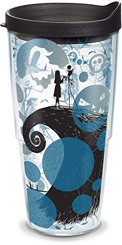 Tervis 1297820 Disney - Nightmare Before Christmas 25th Anniversary Insulated Tumbler with Wrap and Black Lid, 24oz, Clear]()