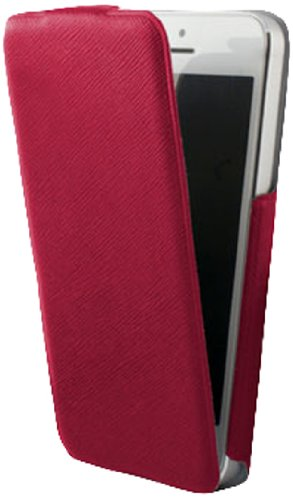 KSIX B0914FU82RJ Flip Up Ultra Slim Case für Apple iPhone 5 rot