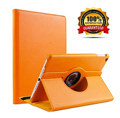 Leather Degree Rotating Tablet Orange