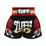 TUFF Muay Thai Boxing Shorts Tiger Black TUF-MS501 , Size S,M,L,XL,XXL (XL)