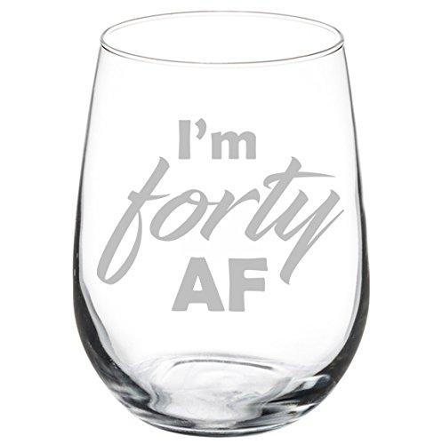 Amazon.com: Copa de vino copa divertido 40 cumpleaños I m ...