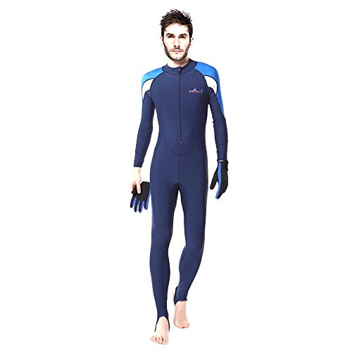Full Wetsuits/Dive Skins/Diving Suits,ViMall Adult/Teenager UV Protection-Lycra Full Body Diving Suit & Sports Skins Sea Surf with Hooded for Scuba Dive,Snorkeling, Swimming(Men's White, M) - Cheap Skin Suit