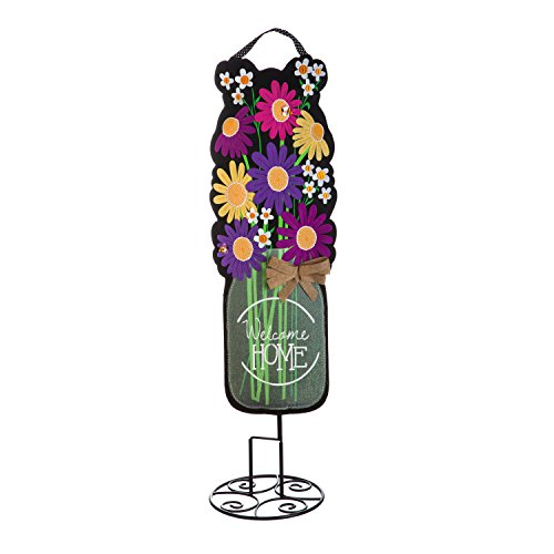 Evergreen Flag Welcome Daisies 36-inch Outdoor Safe Burlap Statement Stake Décorative Sign Review