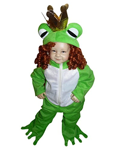 [Fantasy World Boys/Girls Frog Prince Halloween Costume, Size 12-18 months, Sy12] (Cute Couples Halloween Outfits)