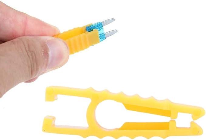 Auto Sicherungszieher Fuse Clip Flachsicherungs Abzieher 5 Stück Sicherungszange Sicherungs Clip Sicherung Abzieher Puller Für Flachsicherung Für Kfz Pkw Auto Auto