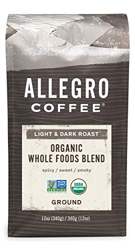 - Allegro Coffee Organic Whole Foods Blend Ground Coffee, 12 oz