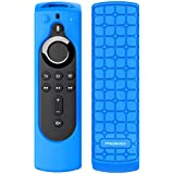 """MoKo Silicone Remote Case Compatible with 5.6"""" Alexa Voice Remote (2nd Gen) for Fire TV Stick 4K, Fire TV Cube, Fire TV (3rd Gen), [Anti-slip] Shockproof Protective Cover Case - Blue"""