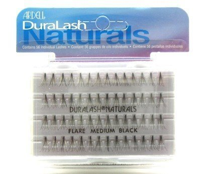 Ardell Duralash Naturals Flares Knot-free Medium Black (56 Lashes) (Case of 6) Ardell Duralash Lashes Flare