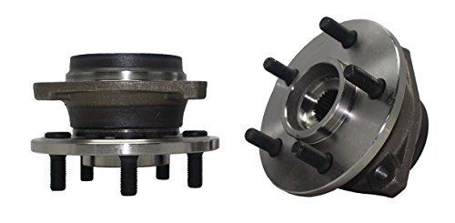 Detroit Axle - New (Both) Front Wheel Hub and Bearing Assembly for Jeep Cherokee Comanche Grand Cherokee TJ Wrangler - Composite Rotor Only