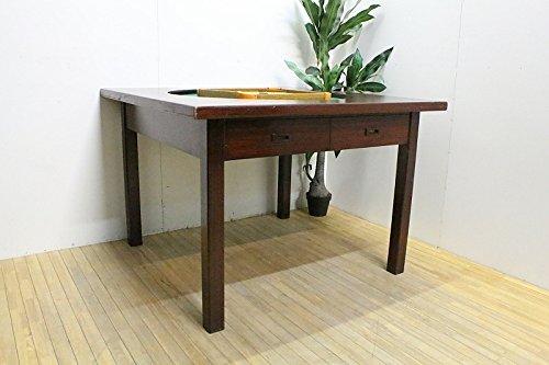 トランプや麻雀などのゲームで使える両引き引き出しのテーブル/昭和中期/品番 F20000 B079FK1WSS