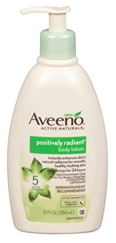Aveeno Positively Radiant Body Lotion 12 Ounce Pump