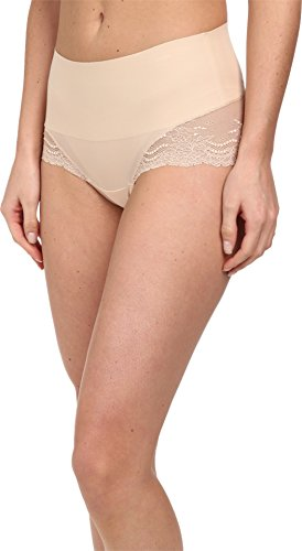 SPANX Women's Undie-Tectable Lace Hi-Hipster Soft Nude Large