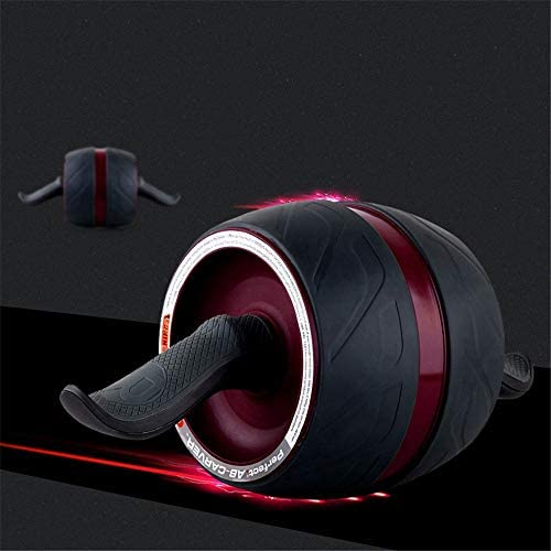Core & Abdominal Trainers Abdominal Wheel Abdominal Wheel Huge Fitness Roller Mute AB Weight Loss Fitness Equipment for Home Gym Abdominal Trainer Ideal for Beginners and Experienced People Jump Rope 3