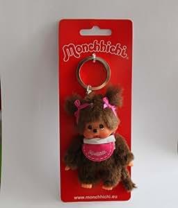 Monchhichi - Llavero Chica Rosado 10cm