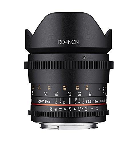 Rokinon 16mm T2.6 Full Frame Cine Wide Angle Lens for Canon EF, Black (FFDS16M-C)