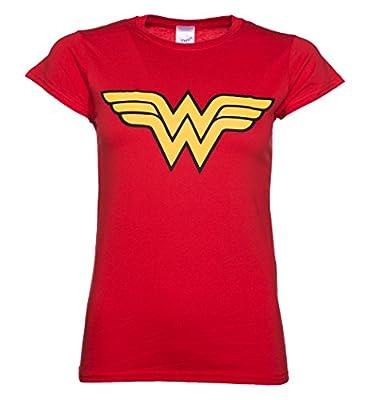 Ladies Red Wonder Woman Logo T Shirt