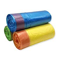small drawstring garbage bags(1.2 gallon 90 counts) Extra Strong trash Bag liners (multi color)