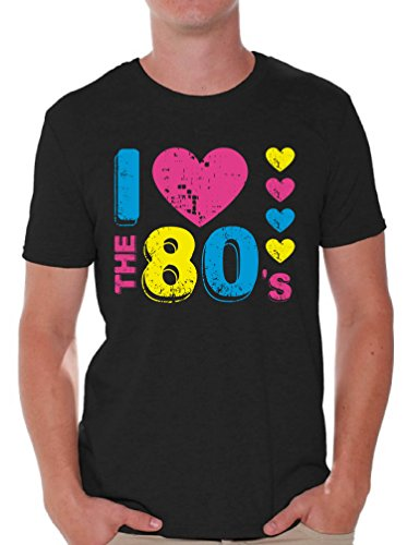 Awkward Styles Men's I Love The 80's T Shirts Tops for 80's Fans Black XL