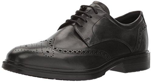 ECCO Men's Lisbon Brogue Tie Oxford, Black, 44 EU/10-10.5 M US (Dress Shoes Ecco Men)