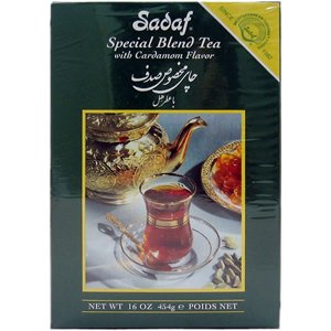 Sadaf Ceylon Tea with Cardamom Flavor 16 oz (Ceylon Blended Teas Tea)