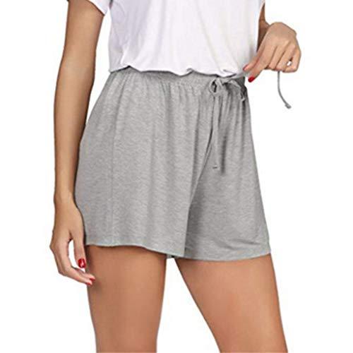 Botrong Women's Summer Plus Size High Waist Shorts Sports Shorts Yoga Pants