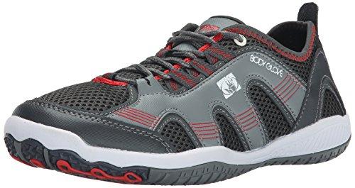 Grey Hybrid Water Shoes - Body Glove Men's Dynamo Hydro Multi Sport Shoe, Grey/Red, 8 M US