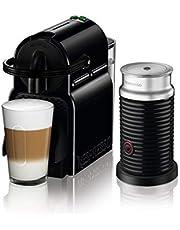 Nespresso Inissia Coffee Machine by DeLonghi with Aeroccino Milk Frother - Black