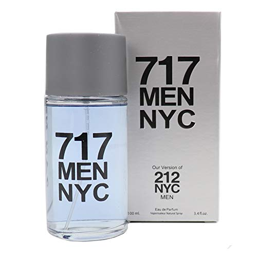747 for Men, Eau de Parfum Spray for Men, Our Version of 212 by CAROLINA HERRERA, Perfect Gift, Spontaneous, Daytime & Casual Use, for all Skin Types, a Classic Bottle, 3.4 Fl Oz