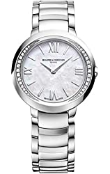 New Ladies Baume & Mercier Promesse Diamonds White Mother of Pearl Dial Quartz 30mm Watch MOA10160