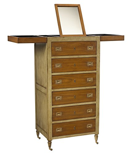 French Heritage Make-Up Chest, Tall, Grey/Light Cherry (Heritage Cherry Vanity)