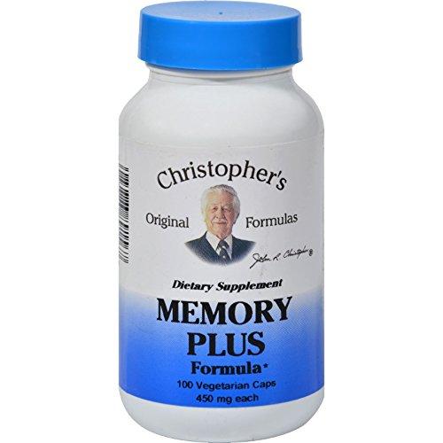 Dr. Christophers Original Formulas Memory Plus Formula - 450 mg -100 Vegetarian Caps (Pack of 2)