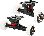 Skateboard Wheel Set, Quality Double-Warped Skateboard Trucks Combo Set Wheel Bracket Bridge Kit