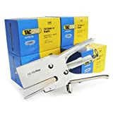 Tacwise HD-73 Stapling Plier with 73/12 mm staples - 5 Boxes (5000 each) by Tacwise