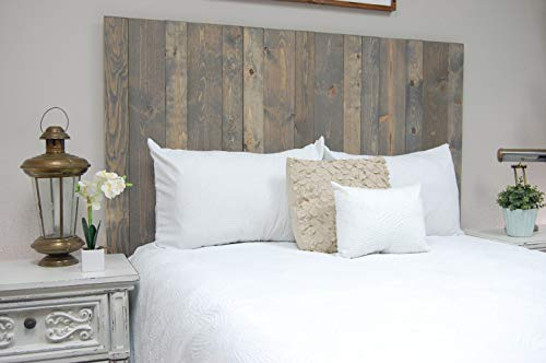 Coastal Gray Headboard Queen Size Stain, Hanger Style, Handcrafted. Mounts on Wall. Easy Installation by Barn Walls