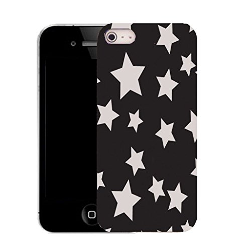 Mobile Case Mate IPhone 4s clip on Silicone Coque couverture case cover Pare-chocs + STYLET - star gazzer pattern (SILICON)