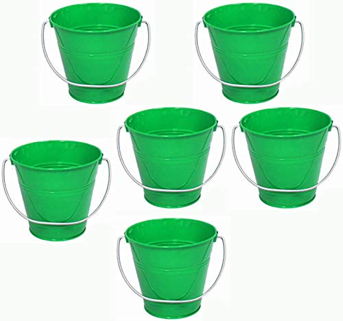 ITALIA 6-Pack Metal Bucket 1.5 Quart Color Green Size 5.6 X 6 -
